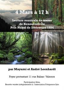 Flyer lecture Mayumi et andré Leenhardt