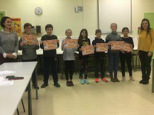 Sept petits champions de la lecture sélectionnés à Ste Marie, école privée de Valence