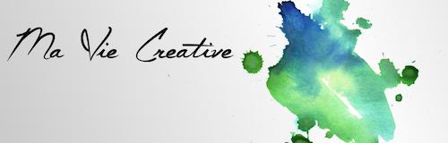 """Aquarelle de Virginie Loth. Une tâche de couleurs bleu-vert pour illustrer """"Ma Vie Créative"""""""