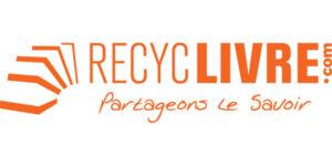 Logo de l'entreprise Recyclivre, partenaire de Fréquence Lire qui a accepté avec enthousiasme de fournir des lots pour récompenser chaque participant de la finale départementale des Petits Champions de la Lecture.