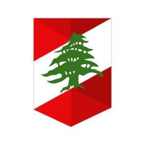 Le drapeau libanais, rouge, blanc, avec son cèdre vert au centre.