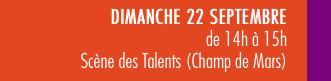 mots-a-la-bouche-valence-en-gastronomie Texte qui annonce le programme du dimanche 22/09 et la scène des talents de 14 à 15h, sur le champ deMars.