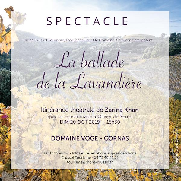 Affiche de la Ballade de la Lavandière sur fonds de vignes en automne