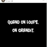 """Pensée de Franck Prévot - """" Quand on loupe, on grandit."""""""