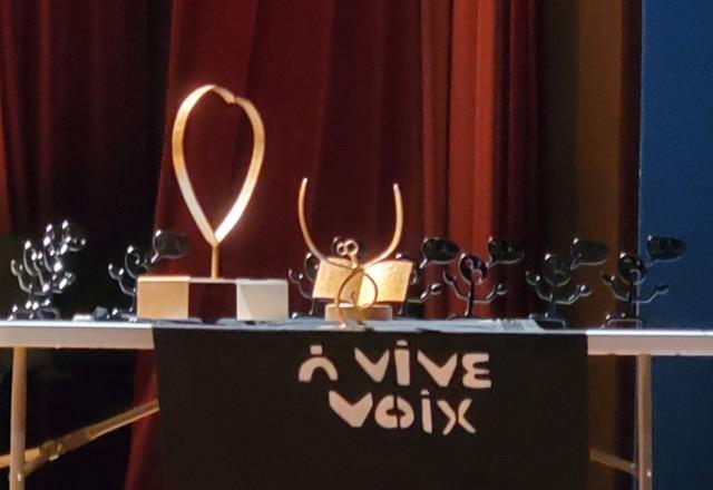 Les trophées du concours À vive voix.